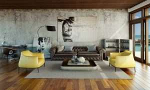 Urban and Artistic Living Room