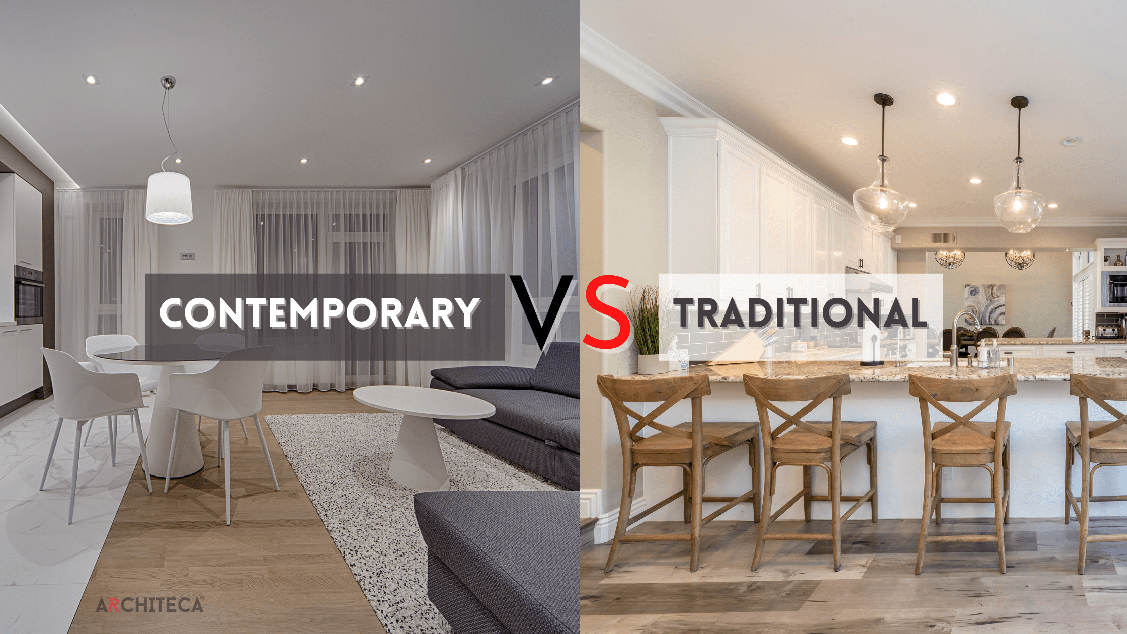 Contemporary house vs traditional house